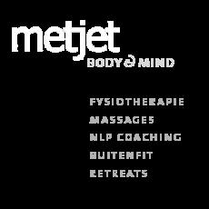 MetJet massages fysiotherapie logo site footer